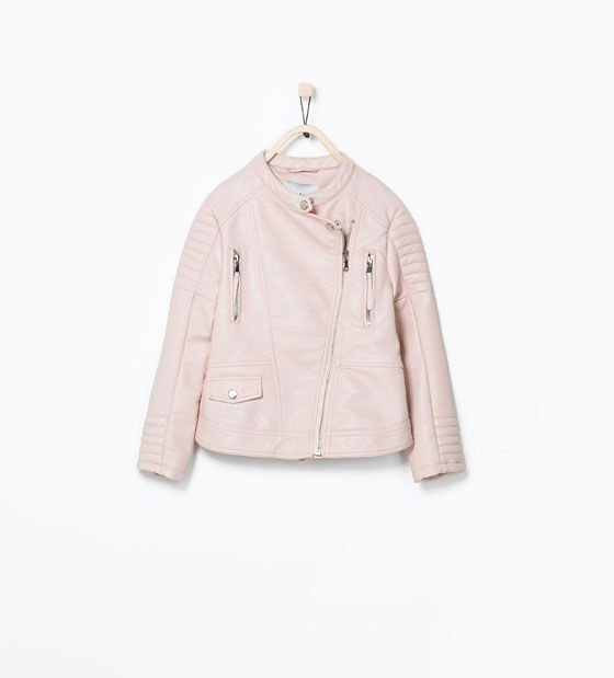 Image 2 of PINK FAUX LEATHER JACKET from Zara | Little Girl ...