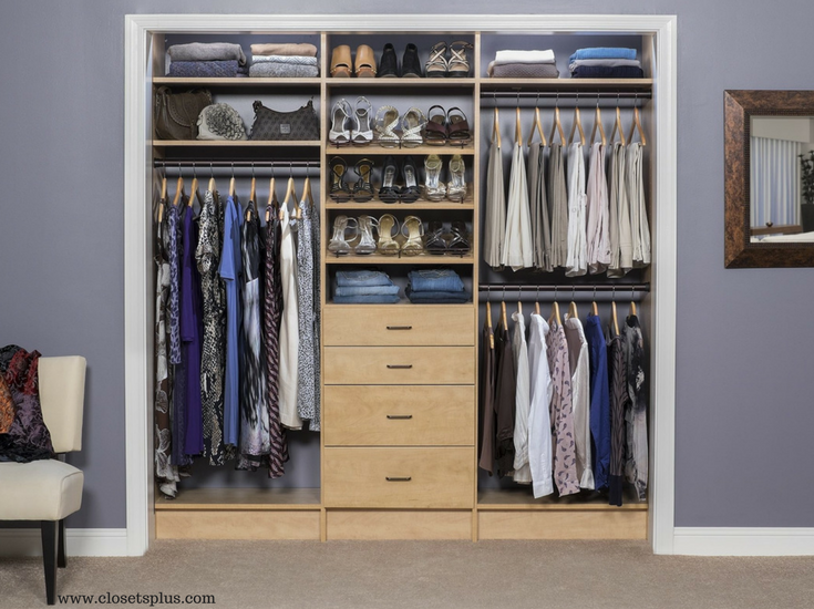How To Design 2 Tiny Cramped Closets To Work As 1 Organized Space Small Closet Design Walk In Closet Design Closet Designs