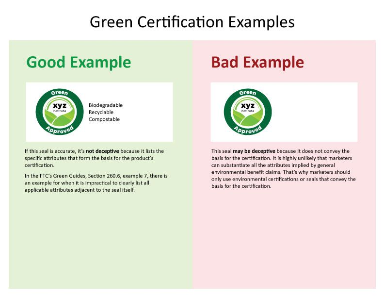 Green approved, biodegradable, recyclable, compostable If - sample ftc complaint form