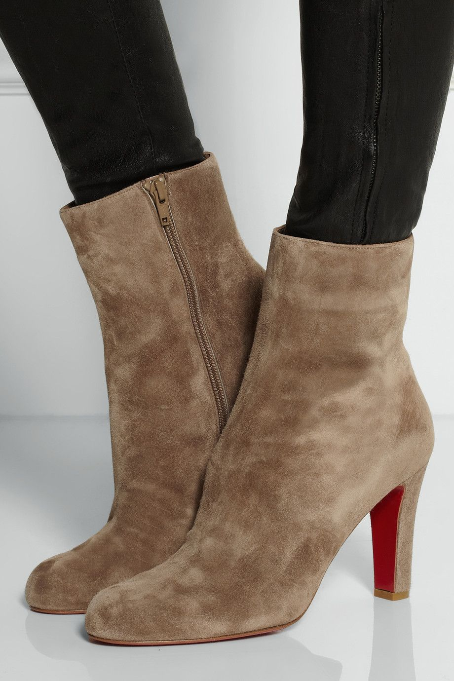 9ee134775eb chocolate with milk color suede ankle #boots | Christian Louboutin ...