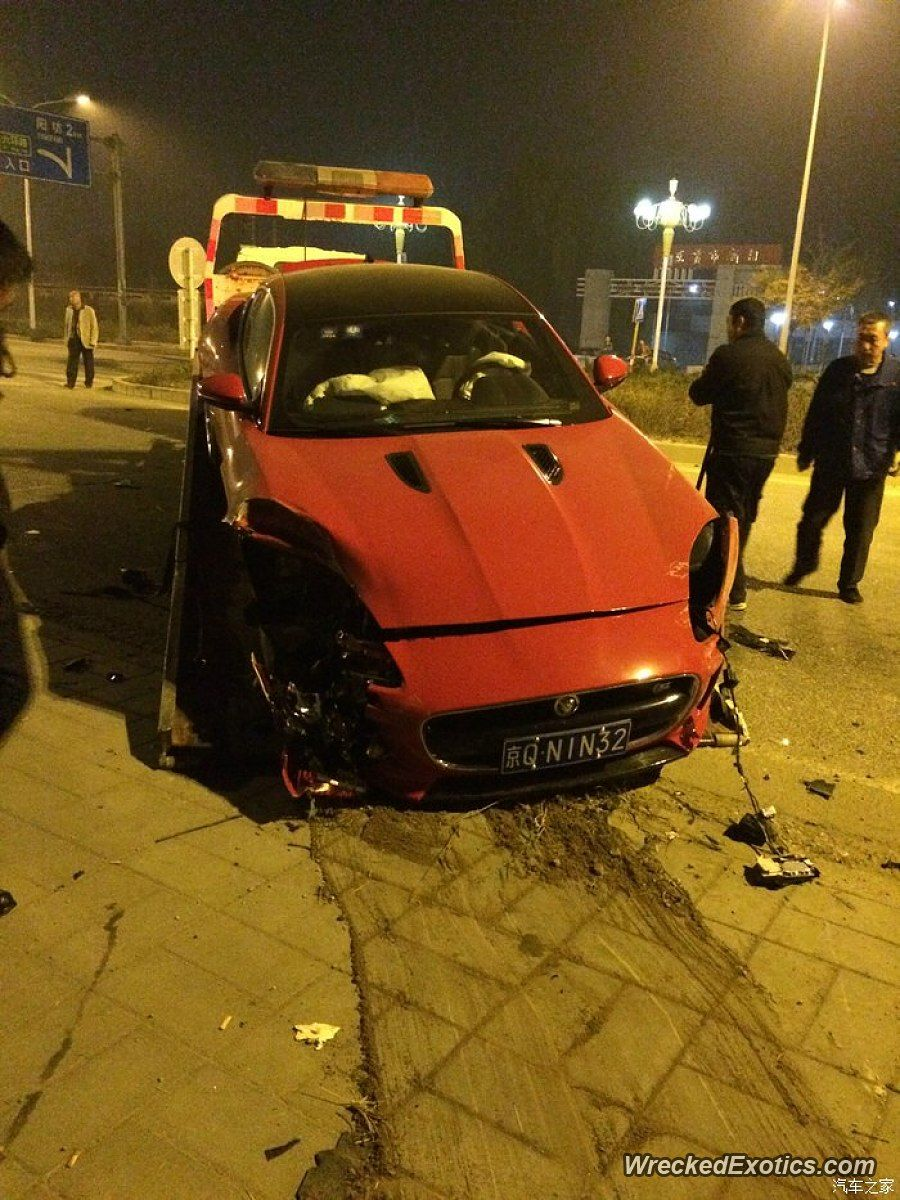 Jaguar F Type Crashed In Beijing China Lgmsports Com