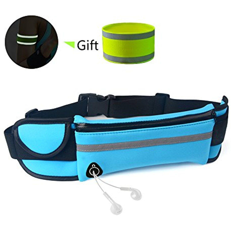 Men Women Water Repellent Waist Bum Bag Fanny Pack Zipper Outdoor Sports Pink