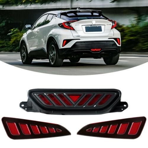 For 2016 2017 2018 Toyota C Hr Chr 3pcs Back Led Brake Lights Rear Fog Lamp Ebay In 2020 Fog Lamps Toyota C Hr Toyota