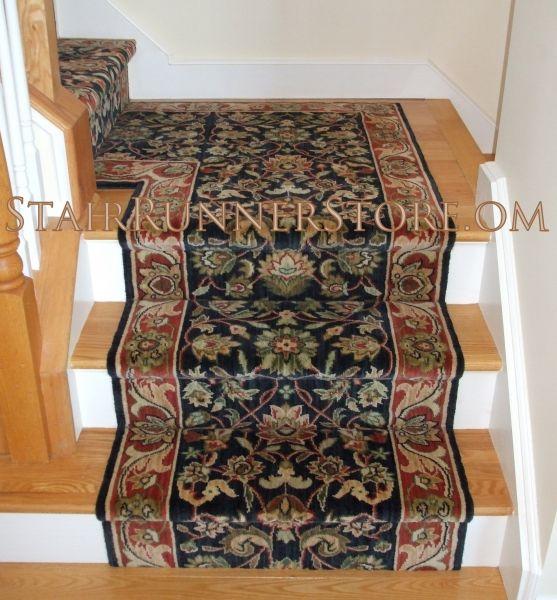 Single Landing Stair Runner Installations • Stair Runner Store | Square Rug For Stair Landing | Area Rugs | Stair Treads | Handrail | Flooring | Mat