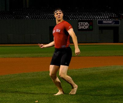 Jonathan Papelbon... I miss the shorts, the jigs, the goggles and the overall insane personality he brought to Boston!
