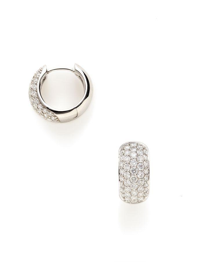 Small Diamond Hoop Earrings From Jewelry Cartier