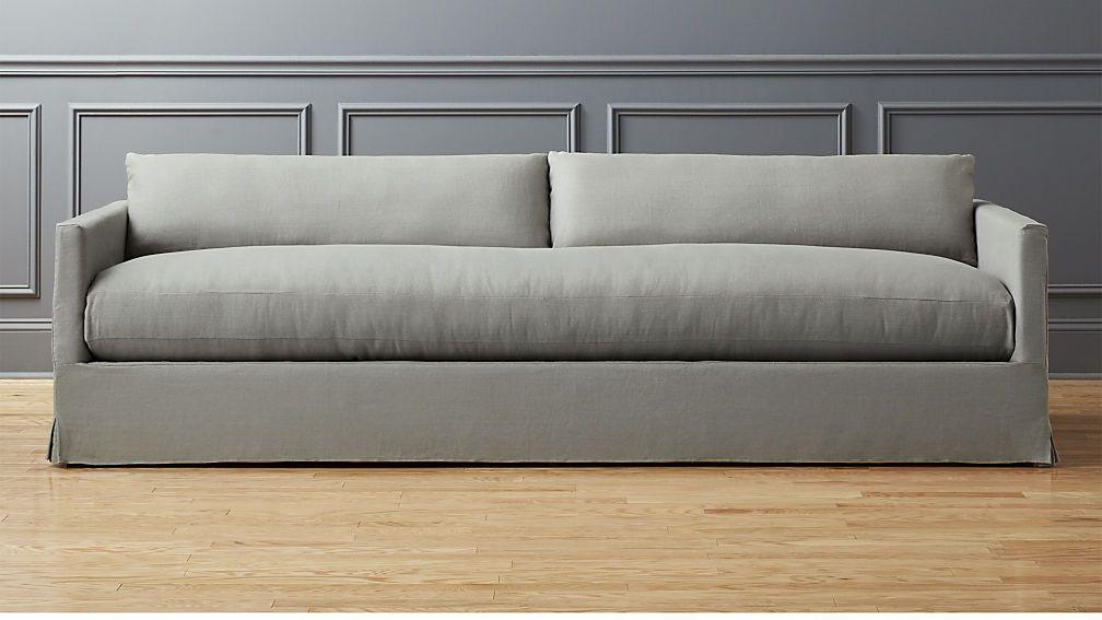 Delphine Linen Slipcover Sofa   Andrew + Larisa Apartment ...