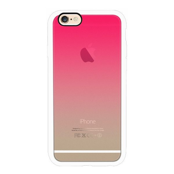 iPhone 6 Plus/6/5/5s/5c Case - Simple Trendy Hot Neon Pink to... (52 CAD) ❤ liked on Polyvore featuring accessories, tech accessories, iphone case, phones, cell phone, phone cases, apple iphone cases, iphone cover case, iphone cell phone cases and transparent iphone case