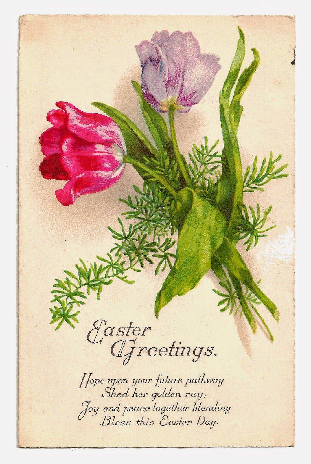 Antique images free printable digital easter greeting