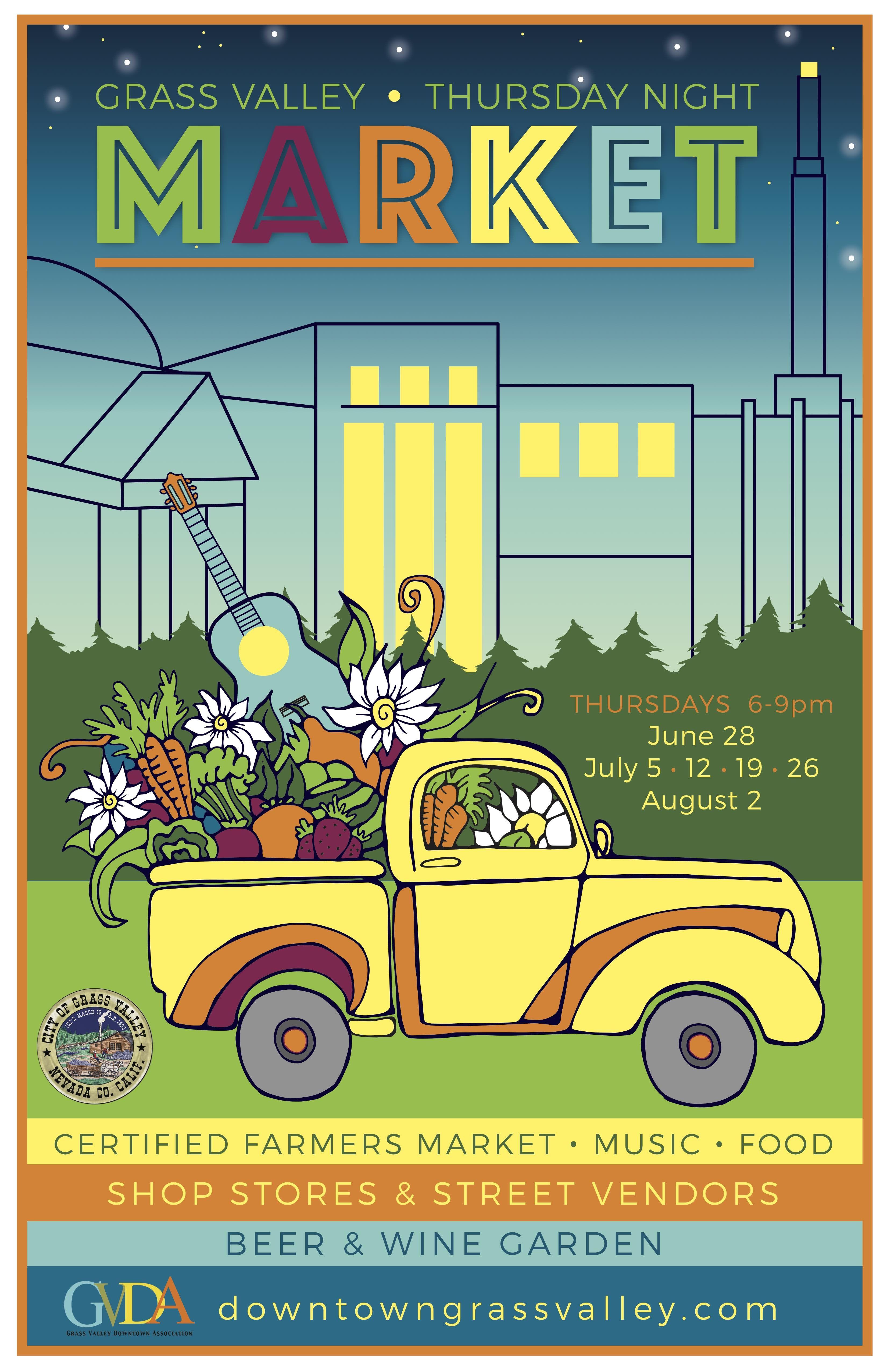 Thursday Night Market starting date 2020 TBD Grass