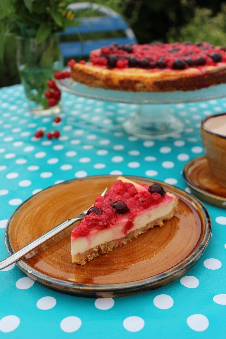 Johannisbeer Cheesecake Mit Roten Johannisbeeren Und Jostabeeren