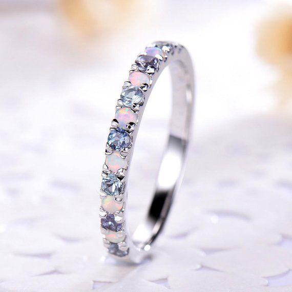 Opal Color Change Alexandrite Wedding Ring 14k 18k 925 Etsy In 2020 Gold Diamond Wedding Band Sapphire Engagement Ring Blue Diamond Wedding Bands