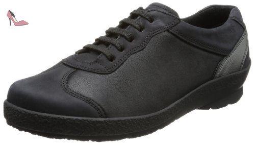 Berkemann Larena, Sneakers Basses Femme - Multicolore - Mehrfarbig (939 Schwarz/Weiß), 37.5