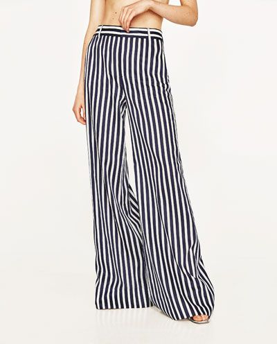 a6a07817 STRIPED PALAZZO TROUSERS-NEW IN-WOMAN   ZARA United States   Just My ...