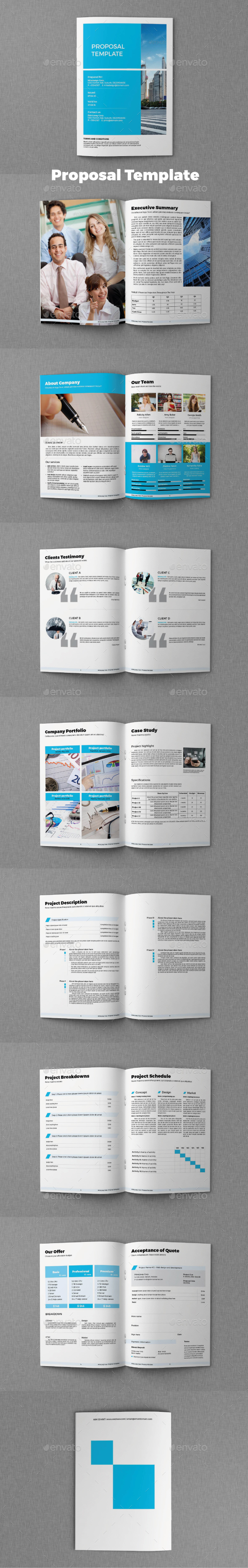 Proposal Template — InDesign INDD #template #proposal • Available ...