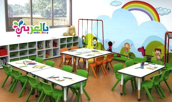 افكار تزيين فصول رياض اطفال بالصور Preschool Room Layout School Library Decor Preschool Decor