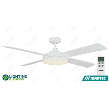 White Warm White Martec Razor 1300mm 52 Low Profile Ceiling Fan With Dimmable 28w Led Light Lcd Re Ceiling Fan Ceiling Fans Without Lights Led Ceiling Fan