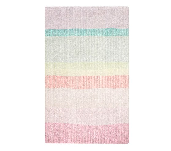 Rainbow Ombre Rug Pottery Barn Kids Toddler Quilt Rugs