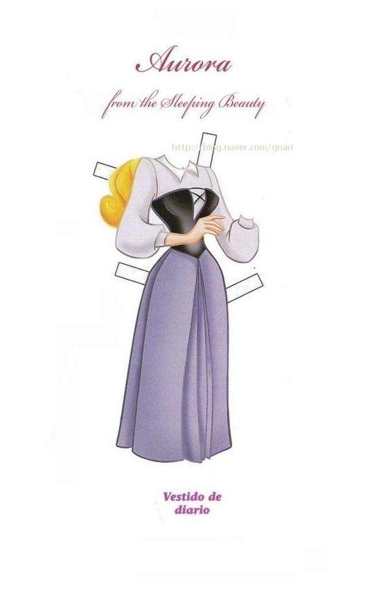 종이인형 (잠자는 숲속의공주) : 네이버 블로그 * 1500 free paper dolls from artist Arielle Gabriel The International Paper Doll Society for Pinterest paper doll pals *