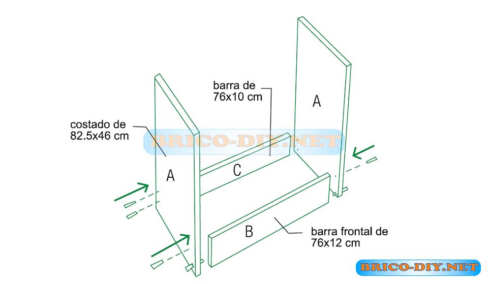 mueble de cocina bajo para lavaplatos plano mueble de
