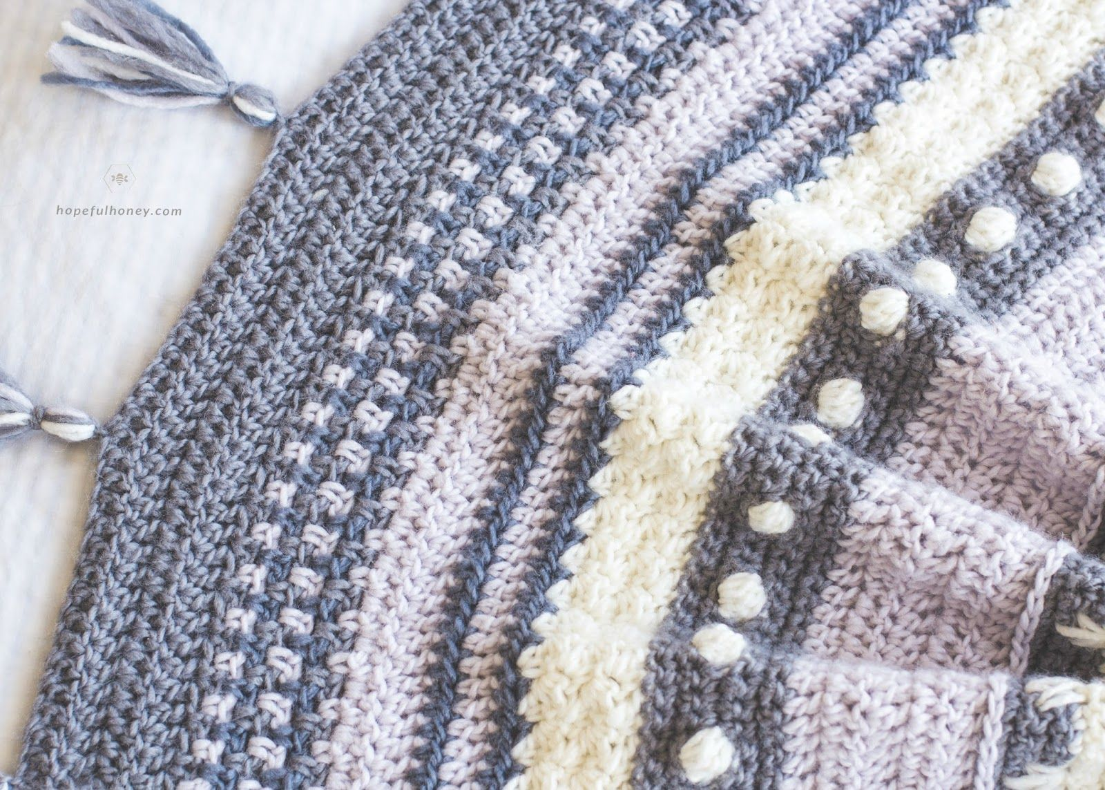 Winter Tempest Blanket - Free Crochet Pattern by | Chal, Tejido y Bebe