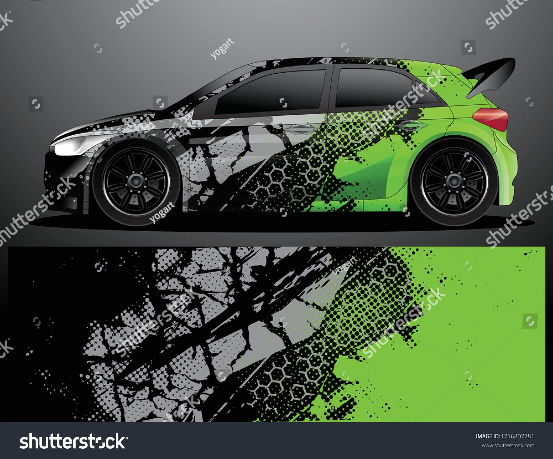 Rally Car Decal Grafik Wrap Vektorillustration Stock Vektorgrafik Lizenzfrei 1716807781 In 2020 Fahrzeugaufkleber Vektorgrafik Bilder