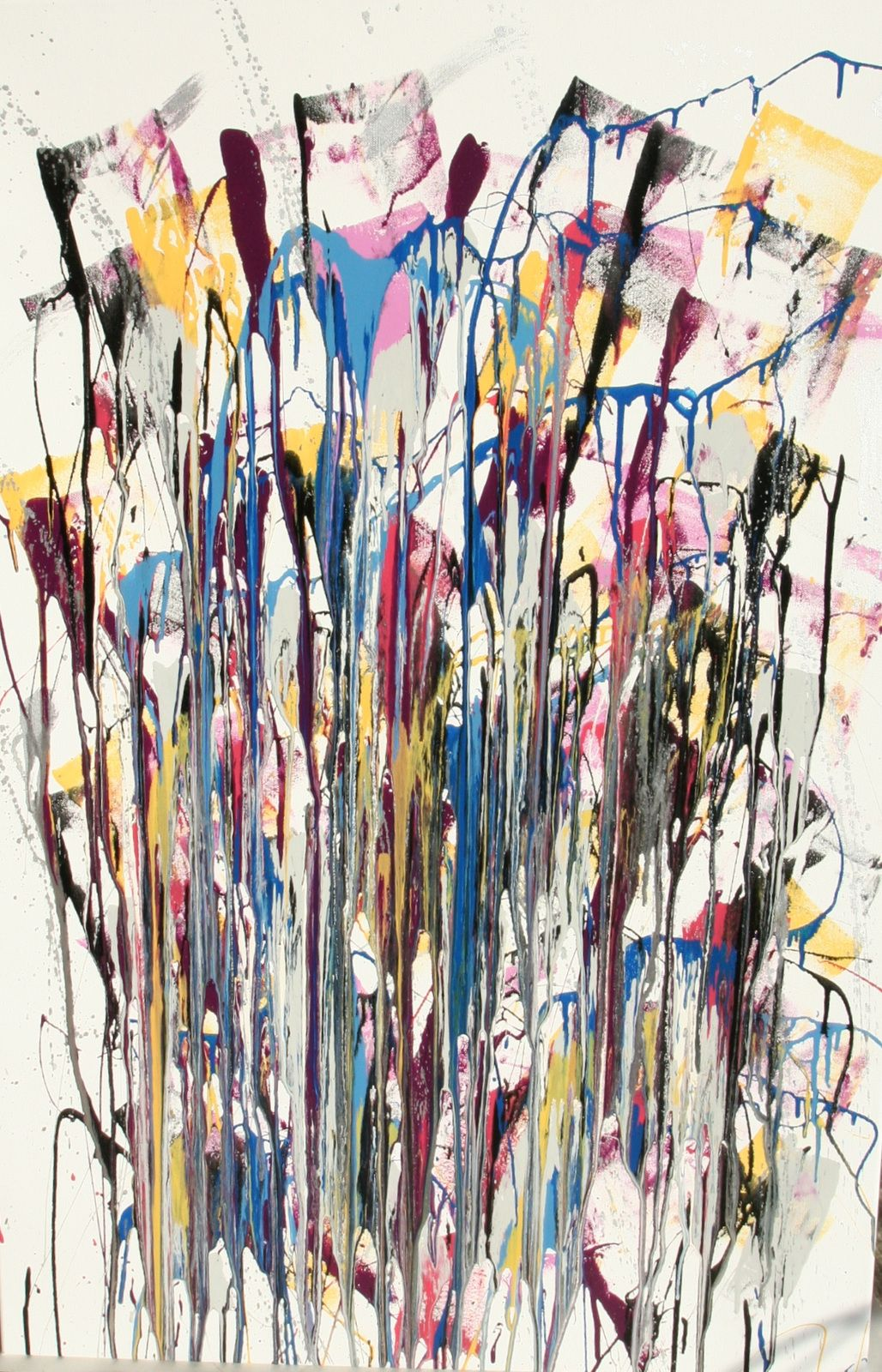 Winter color in beef Jackson Pollock action painting 2011