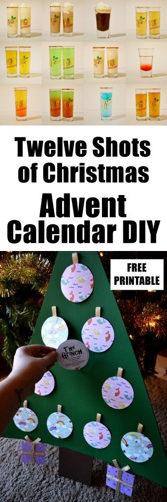 Alcohol Advent Calendar Diy Twelve Shots Of Christmas Tree Unicorn Hideout Diy Advent Calendar Alcohol Advent Calendar Christmas Advent Calendar Diy