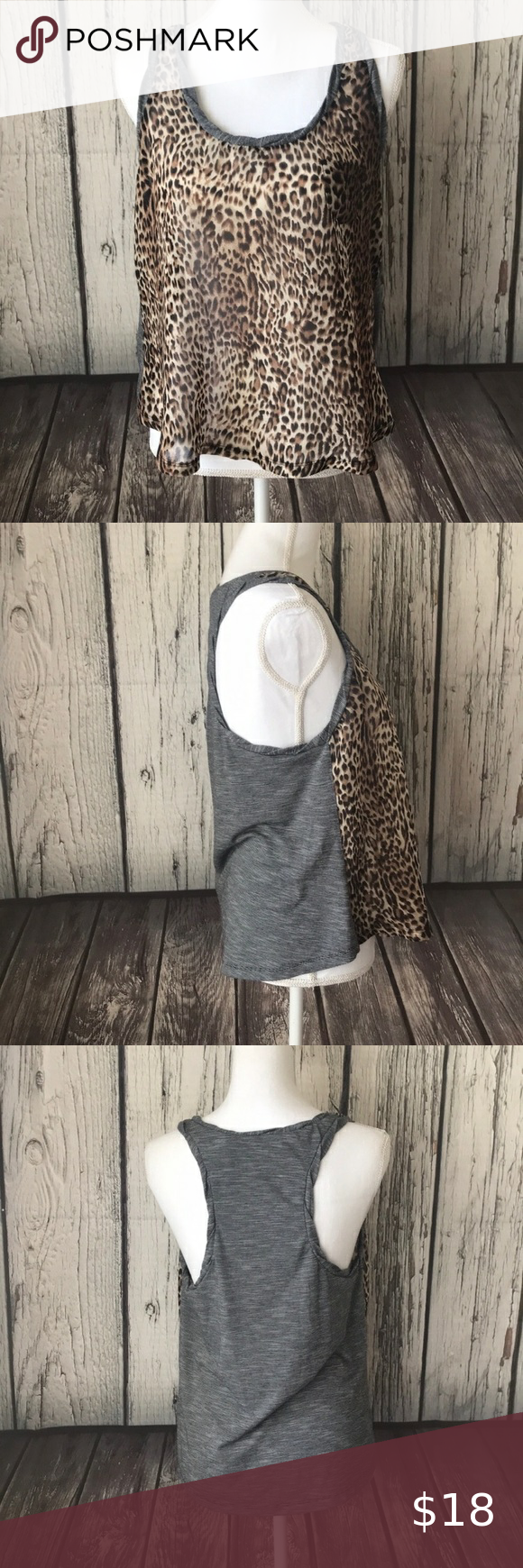 4/$25 DayTrip Animal Print Racer Back Top size m DayTrip Animal Print Racer Back Top size medium Approximate measurements Pit to pit 18 inches Length 22.5 inches 100-0525-919-10 Daytrip Tops Tank Tops