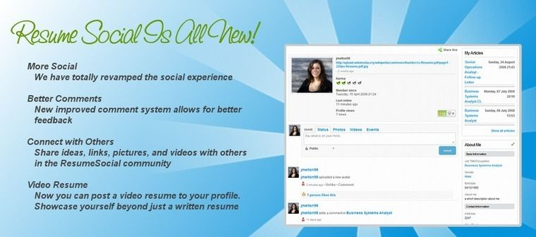 ResumeSocial - The first social resume community where you can - post your resume