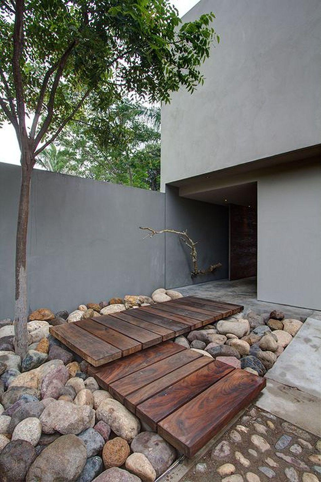 Blickfang Hauseingang Gestalten Treppe Ideen Von Cool 200 Rocks And Stones Walkway Design