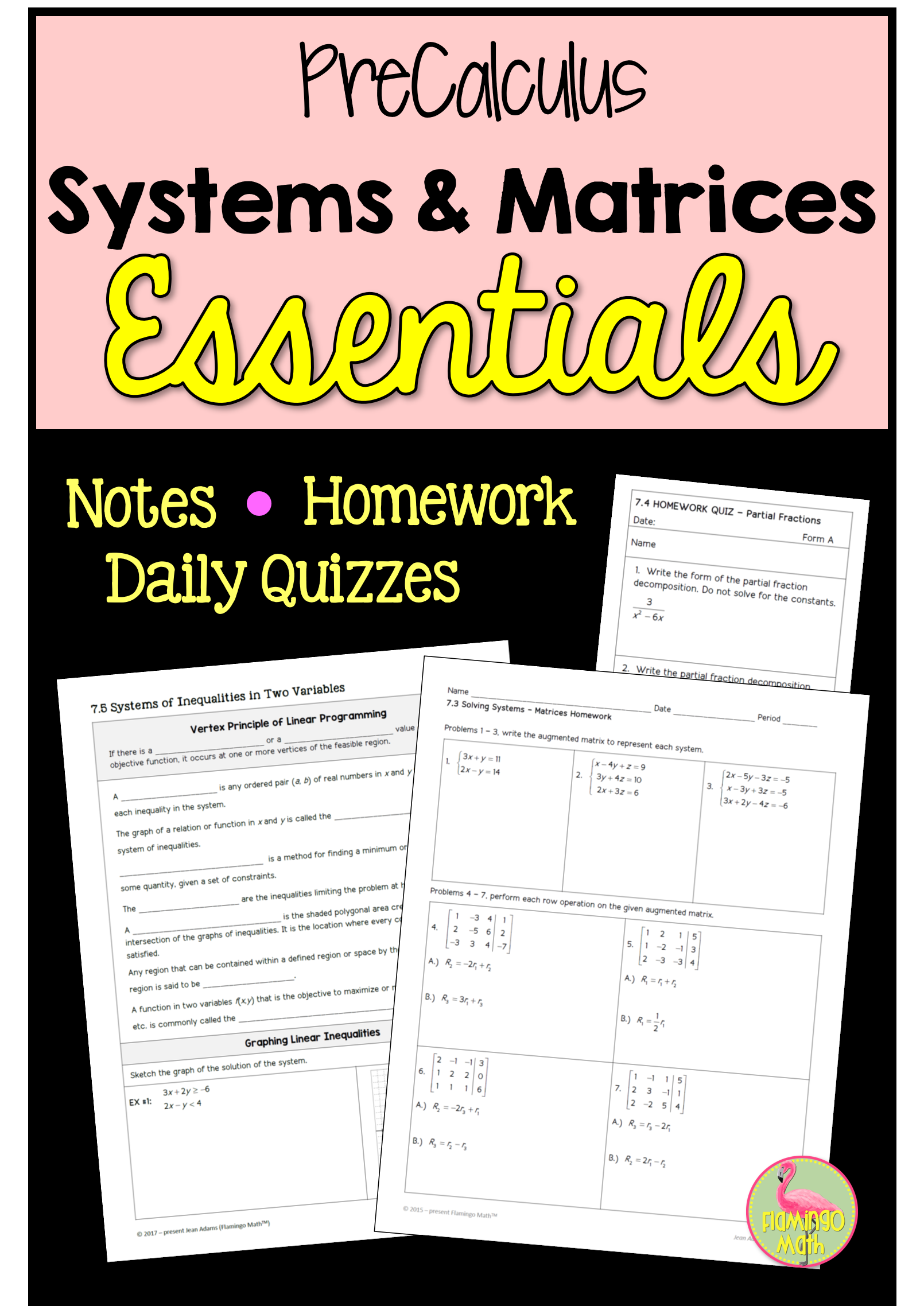 Systems And Matrices Essentials Precalculus