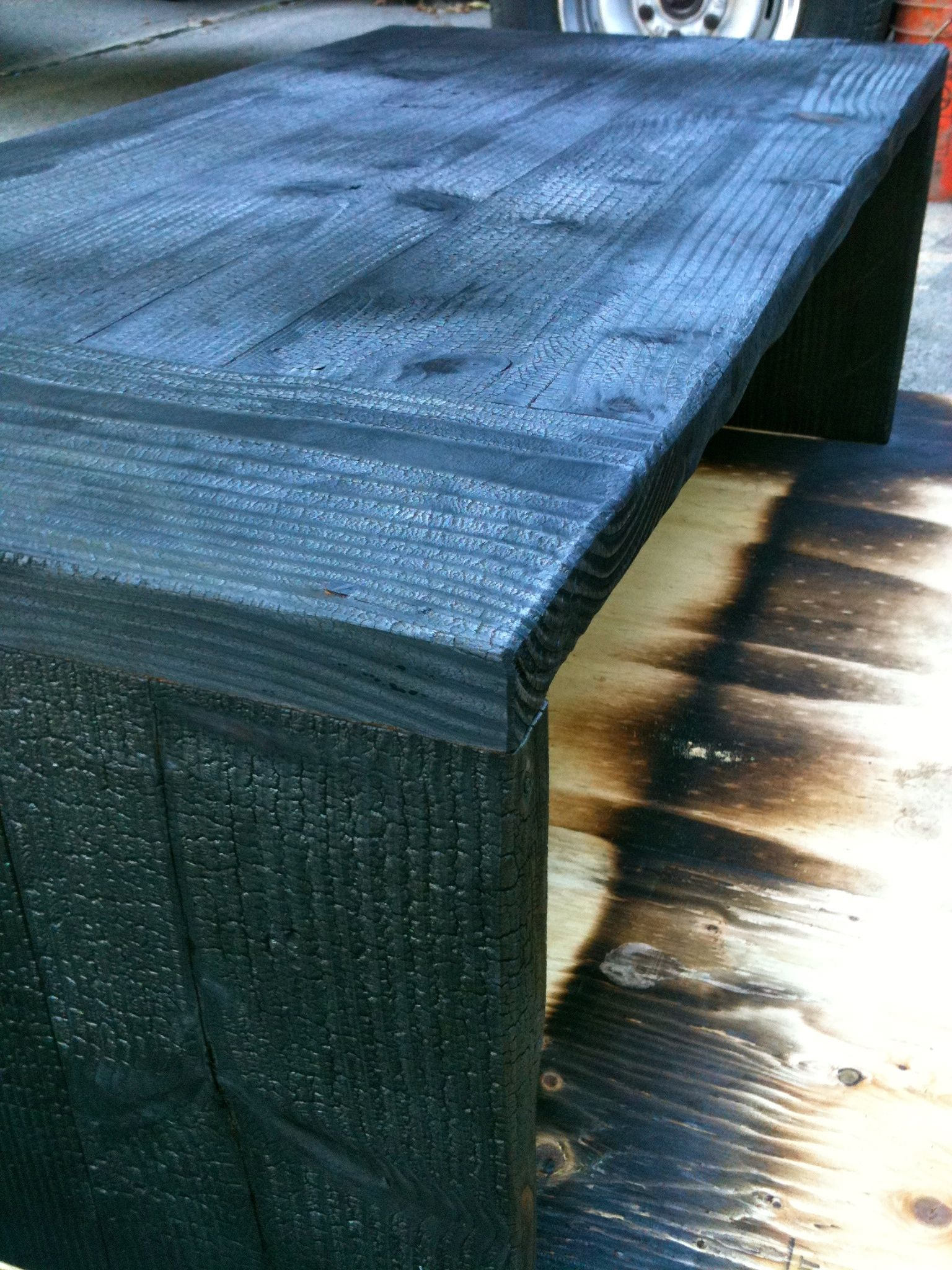 shou sugi ban coffee table my art pieces in 2019 pinterest wood table and wood furniture. Black Bedroom Furniture Sets. Home Design Ideas
