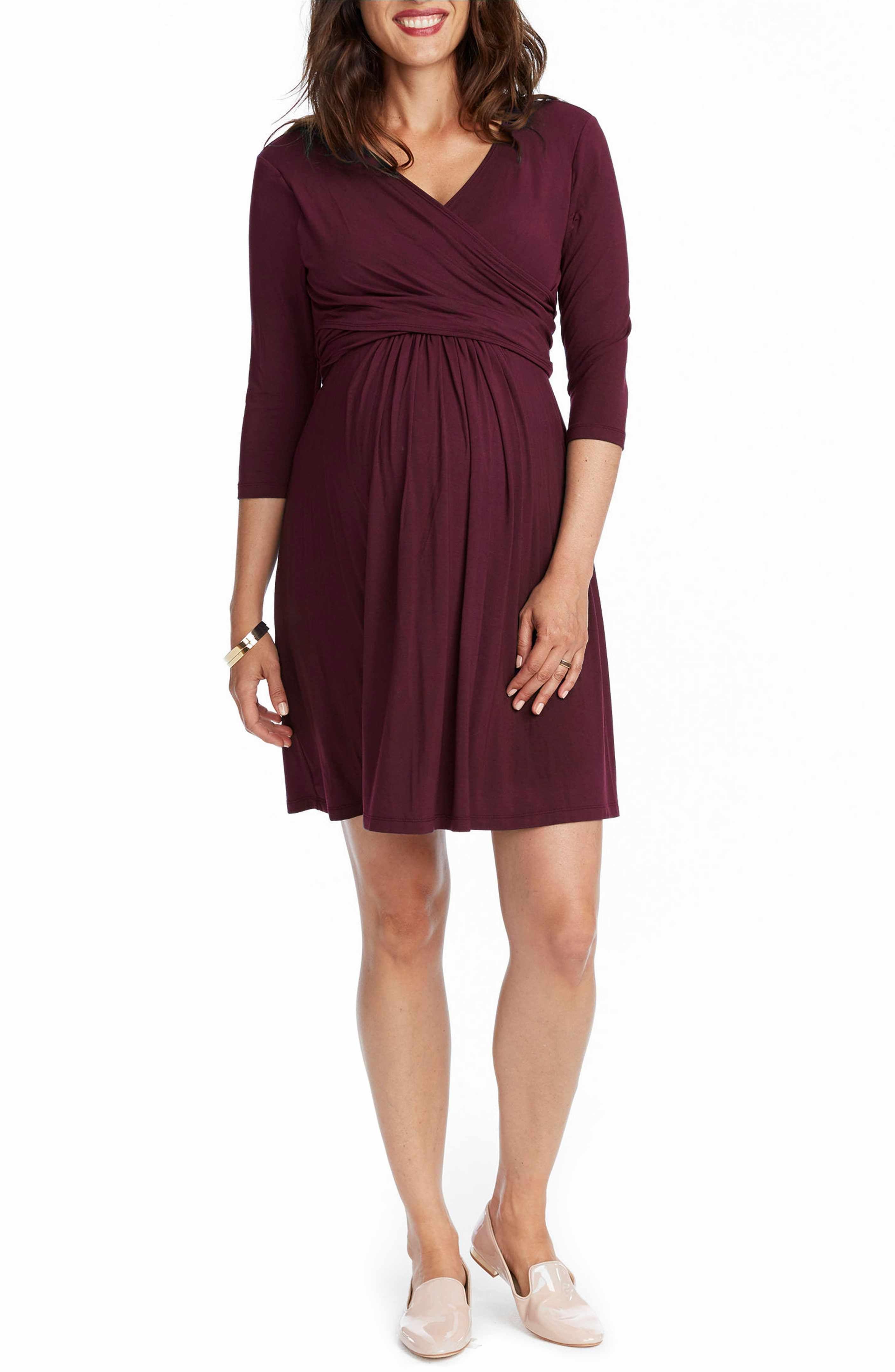 Rosie Pope Maternity Nursing Wrap Dress Nordstrom Burgundy Dress Dresses Rosie Pope Maternity [ 4320 x 2816 Pixel ]