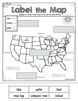 Mapping: Label It! First Grade and Kindergarten Social Studies ...