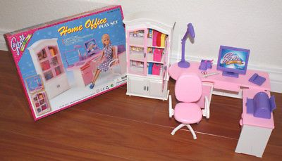 Charming Gloria Furniture Doll House Home Office Stationary Playset For Barbie | EBay
