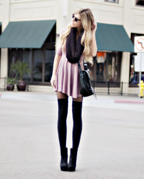 af1a452a848 thigh high socks over tights.