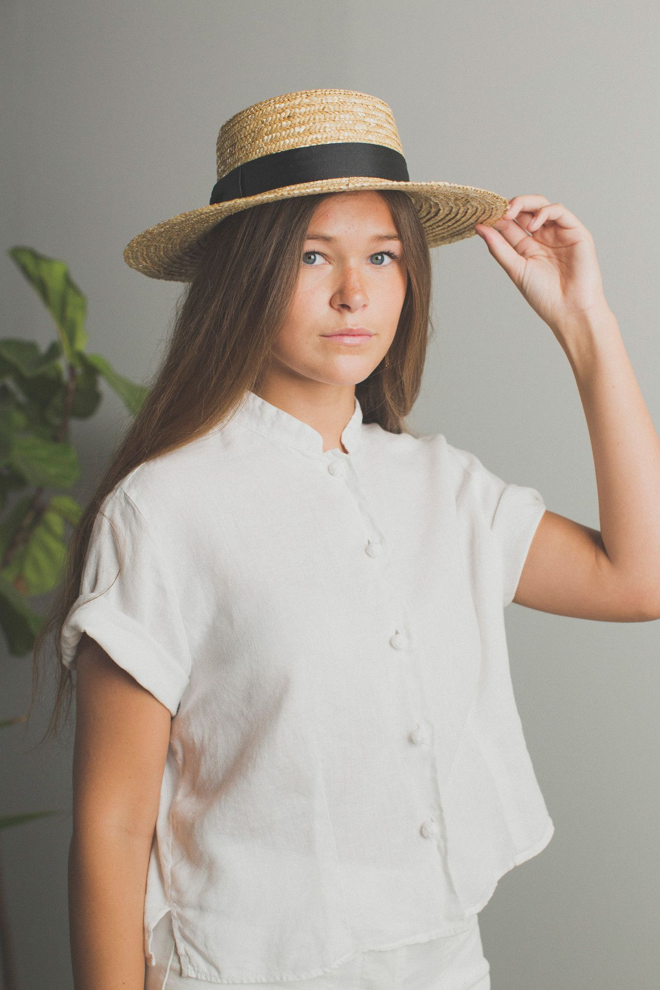 The Spencer Boater Straw Hat