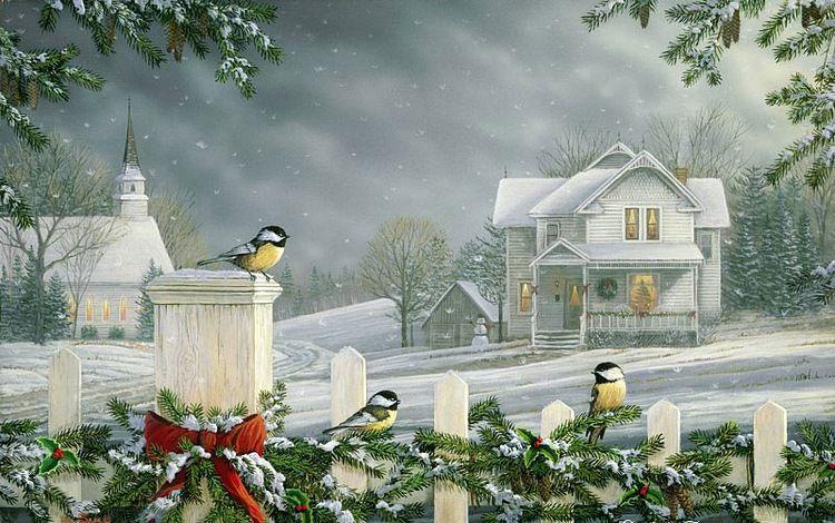 Галерея зимних открыток, про