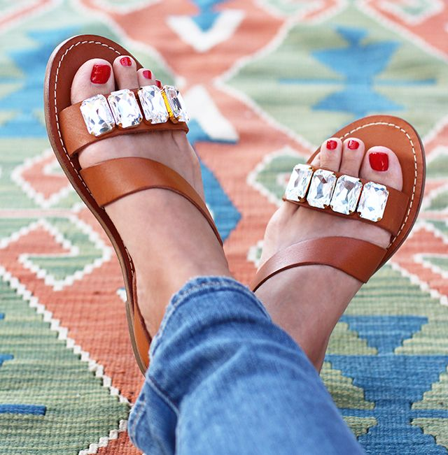 DIY-These Marni inspired jeweled sandals were a no brainer. I mean 1a71d9699985