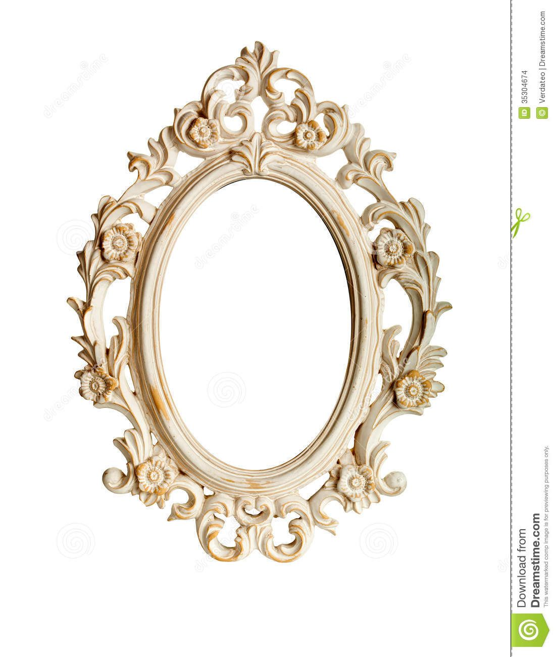 Ornate Gold Oval Frame