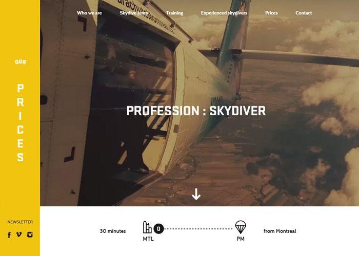 Parachute Montreal Css Website Web Design Web Design Inspiration Best Web Design