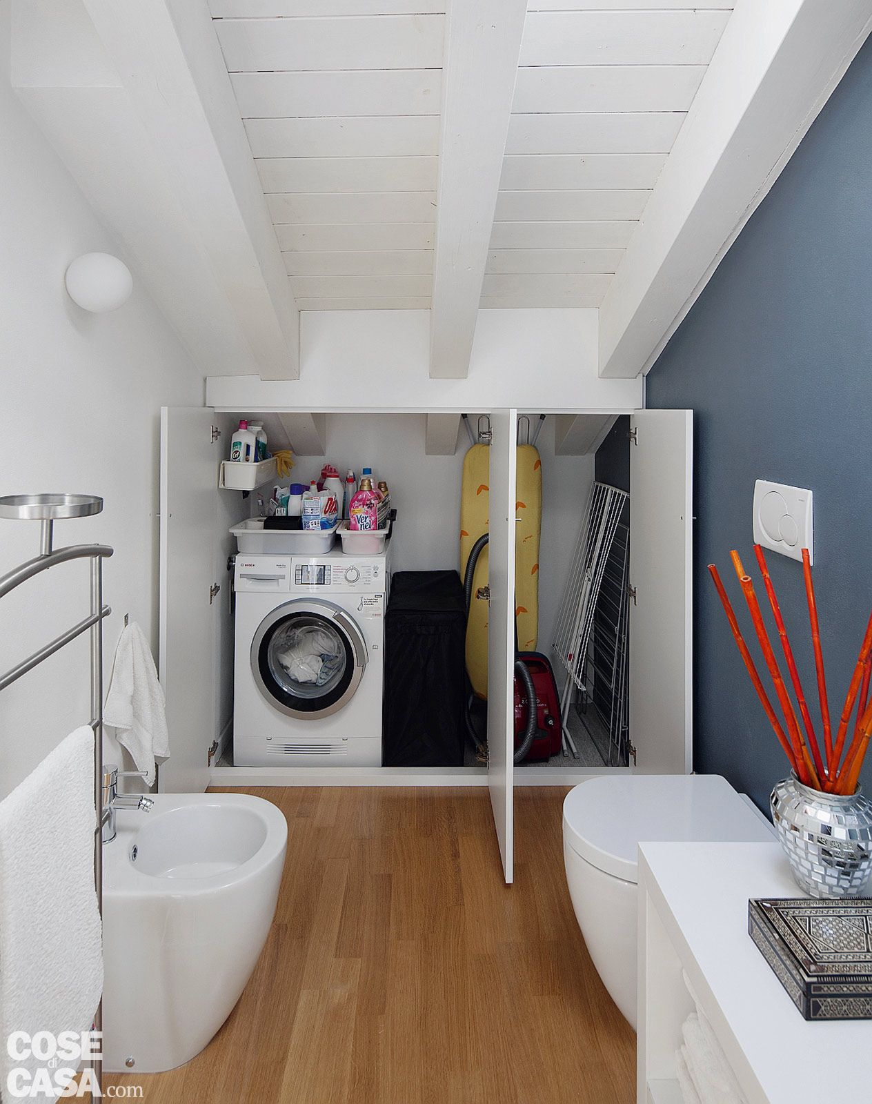 casa-menaghi-fiorentini-bagno-lavatrice | bagni | Pinterest ...