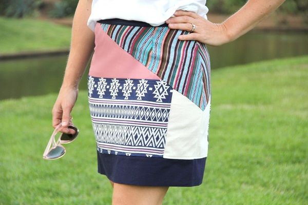 Tutorial Boho Patchwork Pencil Skirt Boho Tops Skirts Chic