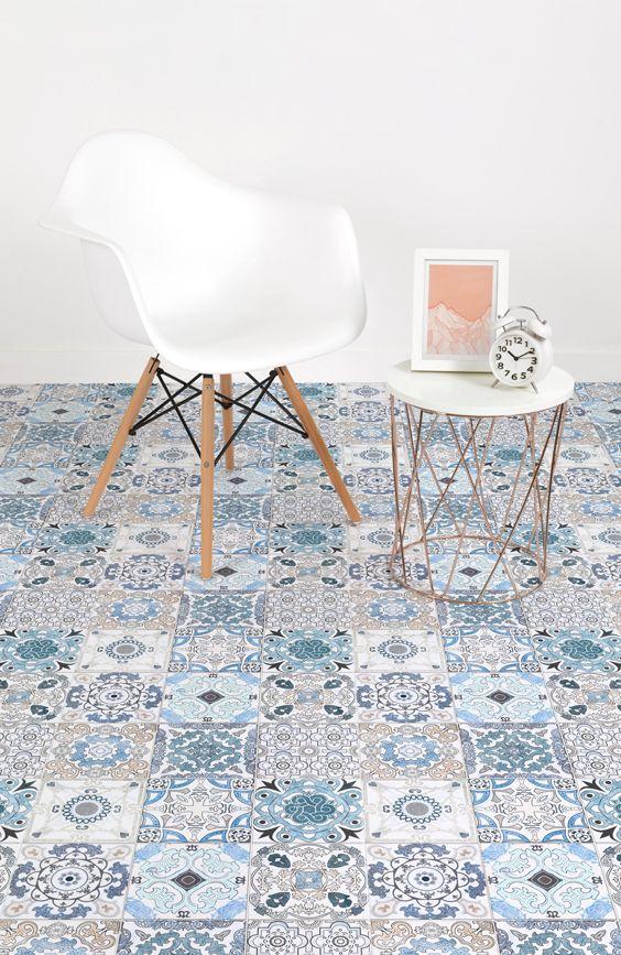 Blue Tile Effect Vinyl Flooring Vinyl Flooring Vinyl Sheet Flooring Luxury Vinyl Tile