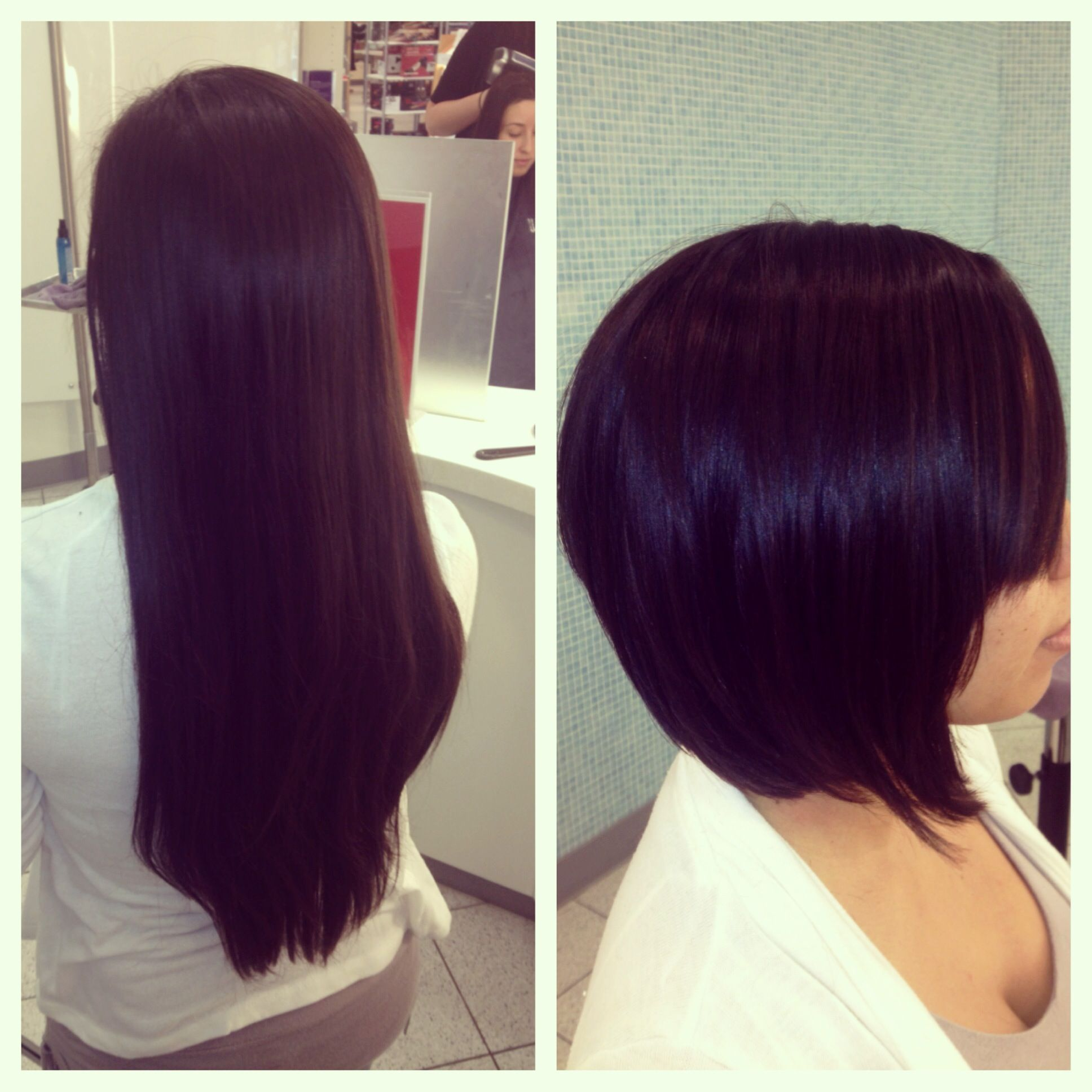 Graduated Bob Before And After Donated To Locks Of Love 3 Long Hair Styles Graduated Bob Hairstyles Hair Transformation