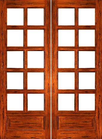 585 Rustic 10 Lite P B Interior Solid 1 Panel Ig Glass Double Door Rustic French Doors Exterior Glass Doors Interior Double Doors Interior