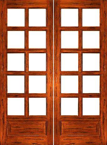 585 Rustic 10 Lite P B Interior Solid 1 Panel Ig Glass Double Door Rustic French Doors Exterior Glass Doors Interior Double Doors Interior