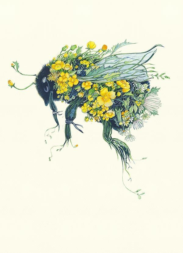 Possible Fabric Collage Bee Ape Pinterest Idee Per Tatuaggi