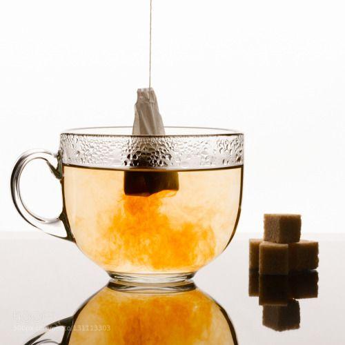 Tea bag brewing by IanDen1  IFTTT 500px Close-up closeup cube cup glass hot nobody sugar table tea tea bag transparent white d
